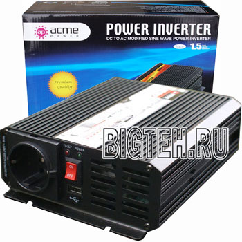Авто инвертор AcmePower AP-DS 800, 24-220 В