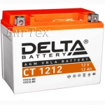 Мото аккумулятор DELTA CT 1212 AGM (YTX12-BS) 12 Ач