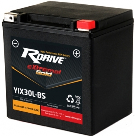 Аккумулятор RDrive Gold YIX30L-BS AGM 31.6 Ач для мотоциклов
