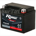 Мото аккумулятор RDrive Silver YTX4L-BS AGM 3.15 Ач